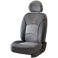 Super Suede Grey Car Seat Cover