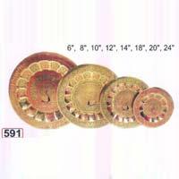 Brass Jaipuri Plates