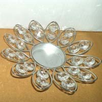 Crystal Stone T Light Candle Holder