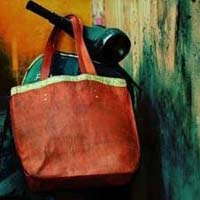 Leather Tote Shopping Bag
