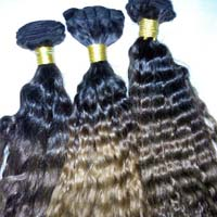 Double Color Curly Human Hair
