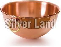 Copper Bowl Brass Ring Handle