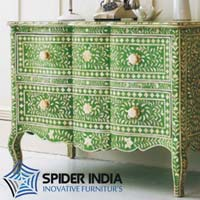 Antonia Bone Inlay Drawer Chest