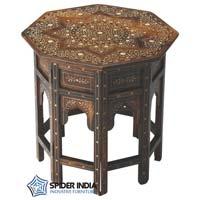 Butler Bone Inlay Teak Wood Table