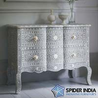 Estelle Bone Inlay Drawer Chest
