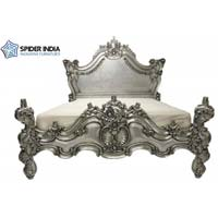 French Silver Leaf Bone Inlay Bed