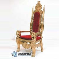 Golden Wedding Throne Chairs
