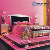 Indian Embossed White Metal bedroom