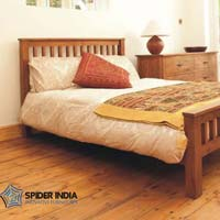 Indus Acacia Wooden Double Bed