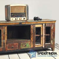Mary Rose Grand Reclaimed Wood TV Stand