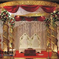 Royal Golden Crystal Wedding Mandaps