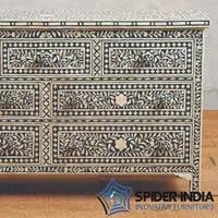Seven Bone Inlay Drawer Chest