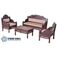 Teak Wood Carved Sofa Set