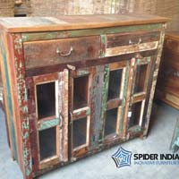 Vintage Door Sideboard with Glass
