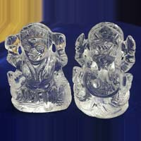 Crystal Lakshmi Ganesh Statue