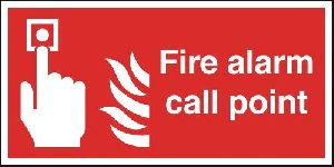 Metal Fire Alarm Call Point Signage