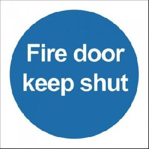 Fire Door Keep Shut Without Symbol Signage