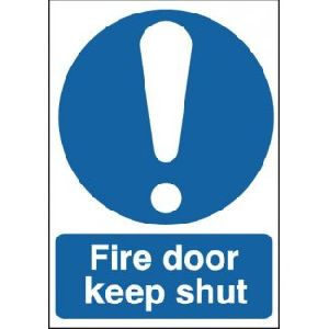 Fire Door Keep Shut With Symbol Signage