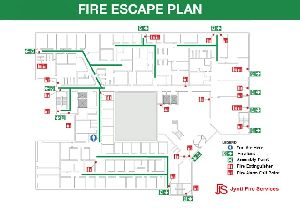 Fire Escape Plan Signage