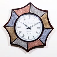 Octagen Shape Clock with Metal Fit