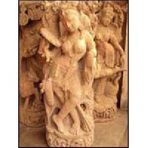 Sandstone Apsara Statue 01