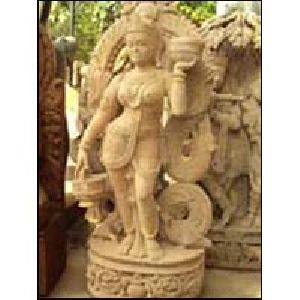 Sandstone Apsara Statue 05