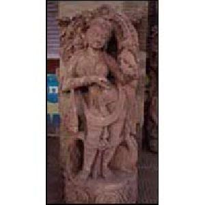 Sandstone Apsara Statue 06
