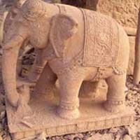 Sandstone Elephant Statues
