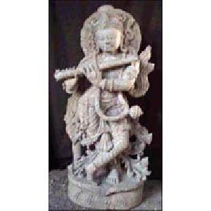 Sandstone Krishna Statue