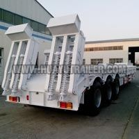 2 Lines Dolly Low Bed Semi Trailer