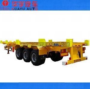 3 axle 40ft container  skeleton semi trailer