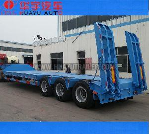 3 Axles Lowbed semi trailer for sale
