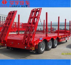 50tons exvavator transport semi trailer