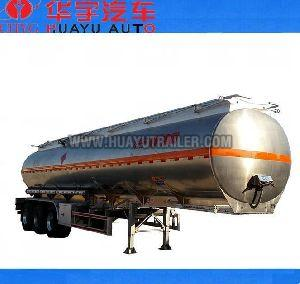 aluminium alloy oil tanker semi trailer