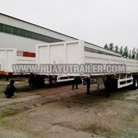 Tri Axle Cargo Trailer with side board