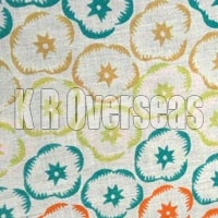 Iromono Lemon Green Printed Cotton Fabric