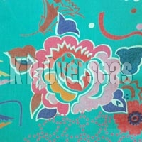 Kimono Peppermint Printed Cotton Fabric