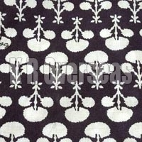 Mahavi Black Violet Printed Cotton Fabric
