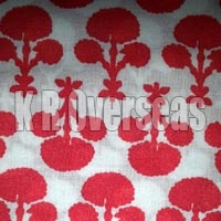 Mahavi Red Printed Cotton Fabric