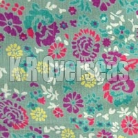 Zadie Pastel Green Printed Cotton Fabric