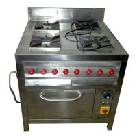 Four Burner Gas Range With Container