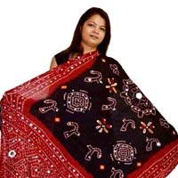 Bandhani Gujari Black Work
