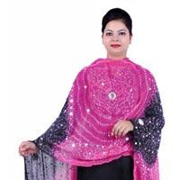 Bandhani Pink Black