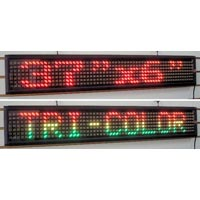 Tri Color Led Scrolling Display