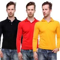 Mens Full Sleeve Polo T-Shirts
