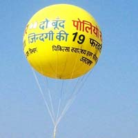 Polio  advertising balloon