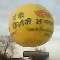 Polio advertising sky balloon