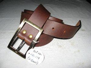 Brown Men Fashion Oil Pull Up Belt