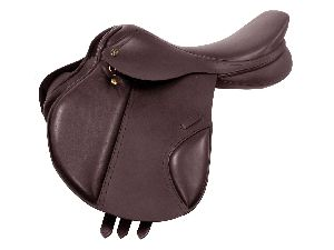 Derby leather eventing English saddle