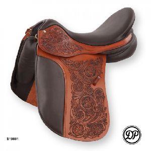 English Hand Carved Saddle